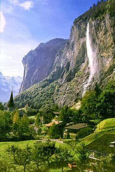 Waterfall Village, Lauterbrunnen, Switzerland