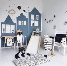We all know how difficult it is to decorate a kids bedroom. A special place for any type of kid, this Shop The Look will get you all the kid's bedroom decor ide Scandinavian Kids Rooms, Scandinavian Style, Scandinavian Interior, Diy Interior, Interior Design, Luxury Interior, Kids Room Design, Baby Boy Rooms, Kids Bedroom