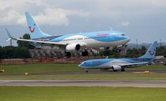 Two Thomson aircraft on the Sunderland International Airshow weekend (Mark Mowbray)