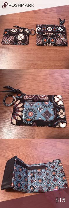 Vera Bradley set Brand-new without tags! Retired print, hard to find set of two wallet and coin purse/cardholder. Never used! Vera Bradley Accessories