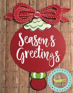 Suspensión de puerta saludos de temporada; Navidad adorno Personal suspensión feliz navidad ornamento suspensión de puerta; Felices fiestas adorno colgador de puerta