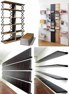 Space saving book cases that collapse