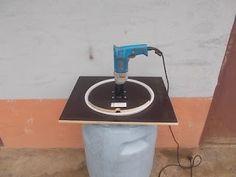 Elektrische Obstmühle, Mühlefür Birnen, Äpfel, Bohrmühle für Obst : HandMade Bohrmühle für Obst Obsthäcksler Apfelhäcksler elektrische Obstmühle