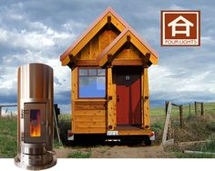 Kimberly™ Wood Stove in a Tiny House by Unforgettable Fire