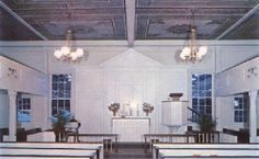 Interior of Hebron Lutheran Church VA (Briles)