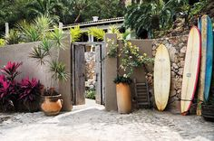 Step Inside A Dreamy Mexican Surf Shack Surf Shack, Beach Shack, Penguin Random House, Step Inside, Architectural Digest, The Hamptons, Facade, Surfing, Real Estate