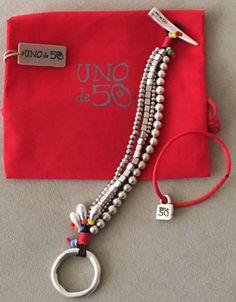 NWT-UNO-de-50-Bracelet-Asomando-el-Colmillo-Bare-ones-Teeth-PUL-0891