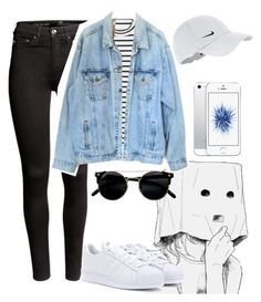 """""""JEANS"""" by natytommo ❤ liked on Polyvore featuring H&M, adidas, Monki, Levi's and NIKE"""