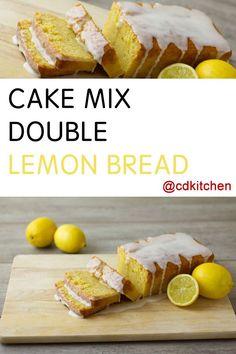 Easy lemon bread recipe cake mix