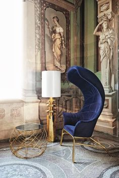 A colorful chair design can do great things for your living room set. Discover these 9 upholstered chairs that will add a beautiful pop of color to your space! Interior Desing, Interior Inspiration, Interior Decorating, Room Inspiration, Furniture Inspiration, Luxury Furniture, Home Furniture, Furniture Design, Wooden Furniture