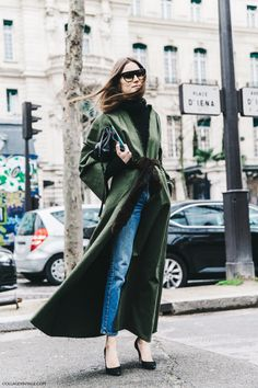 emerald coat, winter outfit idea