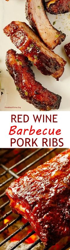 Wine Barbecue Pork Ribs Red Wine Barbecue Pork Ribs -- Tender, Finger-licking, and easy to prepare. They will make your summer extra special!Be Easy Be Easy may refer to: Rib Recipes, Grilling Recipes, Cooking Recipes, Chicken Recipes, Dinner Recipes, Slow Cooking, Barbecue Pork Ribs, Bbq Grill, Beef Ribs