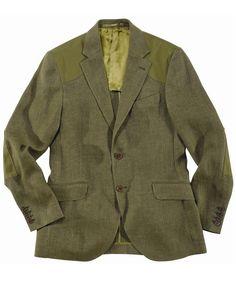 Barbour Mens Linen Herringbone Tailored Jacket - Olive