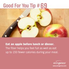 Save calories with a little pre-dinner indulgence. Sounds good to us! www.slimgenics.com
