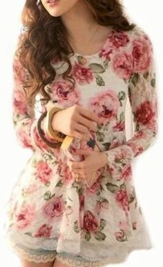 Roses and lace top