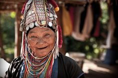 Chaing Rai, Thailand. I encountered this old woman while travelling through Northern Thailand. Although I wished I could speak her language she greeted me with the International language of a smile.