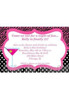 Birthday Party Invitation Twenty First by ColorMeEventful 21 Birthday, Birthday Parties, Dahlias, Birthday Party Invitations, Party Planning, Rsvp, Drinking, 21st, Party Ideas