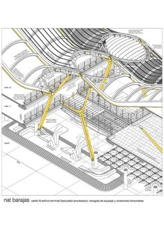 Image 27 of 27 from gallery of Madrid-Barajas Airport Terminal 4 / Estudio Lamela & Rogers Stirk Harbour + Partners. Photograph by Estudio Lamela + Richard Rogers Partnership Detail Architecture, Architecture Graphics, Architecture Drawings, Contemporary Architecture, Landscape Architecture, Airport Architecture, Architecture Student, Estudio Lamela, Richard Rogers