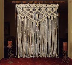 Großen Makramee Wandbehang Fenster Bambusvorhang von MonroeArtist