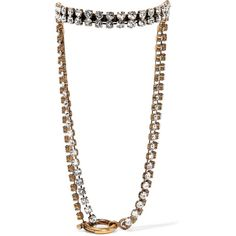 Balenciaga Gold-tone crystal necklace ($1,380) ❤ liked on Polyvore featuring jewelry, necklaces, choker, crystal choker, choker jewellery, balenciaga necklace, balenciaga jewelry and gold tone jewelry