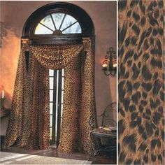 Animal Print Curtains - Sheer Window Curtains