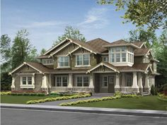 Eplans Craftsman House Plan - Substantial Columns and Trim Create Bold Fa