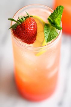 Sparkling Strawberry Lemonade - Wonderfully sweet, tangy, refreshing and bubbly. Plus, it's so easy and inexpensive to make right at home!