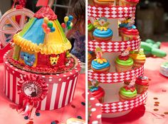 Circus Carnival Party! Props & colour theme. Food ideas