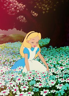 this part was always my favorite. when she lays down in the flowers and you can't see her anymore.