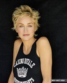 Sharon Stone - ♥ the haircut.