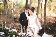 Blog — She Said Yes Bridal Ladonna Lanier Art Director  Photography by Stephanie Parsley #styled #bridal #outdoor #bridal #tux #lazaro #flowers #maroon #gold #glamour #romance #veil