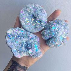 Angel Aura Celestite by Minerals And Gemstones, Crystals Minerals, Rocks And Minerals, Stones And Crystals, Cool Rocks, Beautiful Rocks, Crystal Magic, Crystal Healing, Quartz Crystal