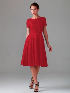 Pin to Win a Wedding Gown or 5 Bridesmaid Dresses! Simply pin your favorite dresses on www.forherandforhim.com to join the contest!   Lace Dress with Short Sleeves $219.99