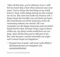 And i cannot forgot you