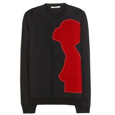 Christopher Kane Embellished Sweater ($485) ❤ liked on Polyvore featuring tops, sweaters, black, velvet tops, christopher kane sweater, black velvet top, embellished tops and christopher kane