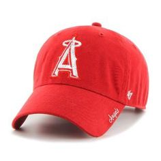 cbc66d22795a2 Los Angeles Angels Sparkle Team Color Clean Up Red 47 Brand Womens Hat - Detroit  Game Gear