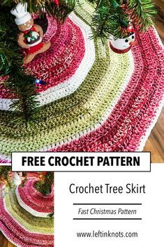 Use this free crochet pattern and Caron Cakes yarn to make a fast and easy tree skirt for your Christmas tree. This simple project will surly be a holiday family heirloom. Christmas Tree Skirts Patterns, Christmas Skirt, Crochet Christmas Decorations, Crochet Christmas Ornaments, Crochet Decoration, Christmas Crochet Patterns, Crochet Snowflakes, Christmas Angels, Tree Decorations