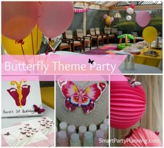Butterfly Theme Party : 1st Birthday