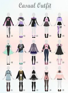 Fashion Design Drawings, Fashion Sketches, Fashion Illustration Dresses, Anime Outfits, Female Outfits, Kleidung Design, Drawing Anime Clothes, Manga Clothes, Barbie Clothes