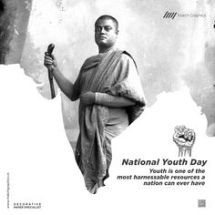 Youth is one of the most harnessable resources a nation can ever have National Youth Day. Navratri Wishes, Youth Day, National Days, Nature Decor, Paper Decorations, Event Planning, Empire, Politics, Events