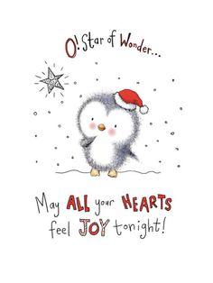 Gail Yerrill - Penguins Star Of Wonder Christmas Design Twinkle01
