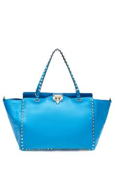 Shop Rockstud Medium Tote by Valentino for Preorder on Moda Operandi