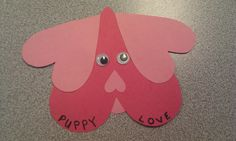 Puppy Valentine Card I made with my kids