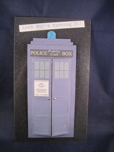 Tardis birthday card. Gotta make this for a special Dr. Who fan!