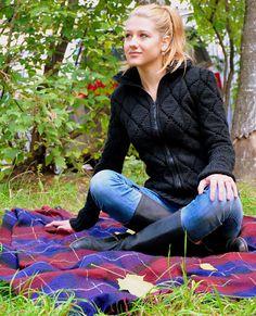 knitted a women jacket handmade work