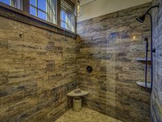 This tile that looks like wood came from Home Depot. #vermontinteriordesign  #vermontbathroomdesign