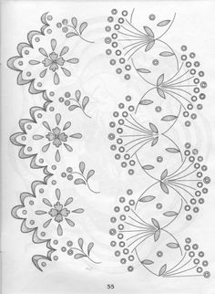 embroidery of the broderie anglaise of the scheme: 19 thousand images are found in Yandex. Border Embroidery Designs, Cutwork Embroidery, Hand Embroidery Patterns, Vintage Embroidery, Cross Stitch Embroidery, Machine Embroidery, Bordado Popular, Crazy Quilt Stitches, Lace Painting