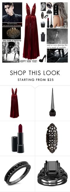 """""""✦ New Year's Party with Andy ✦ Read D! ✦"""" by blueknight ❤ liked on Polyvore featuring J. Mendel, Christian Louboutin, MAC Cosmetics, Repossi and Gucci"""