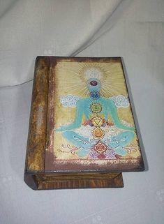 Meditation And Healing Box ,reiki box,decoupage healing box,chakra box,crystal box Crystal Box, Reiki Symbols, Wooden Ornaments, Chakra, Decoupage, Healing, Bronze, Shapes, Watercolor