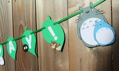 Studio Ghibli TOTORO Birthday Banner Tototo by BeInspiredBoutique
